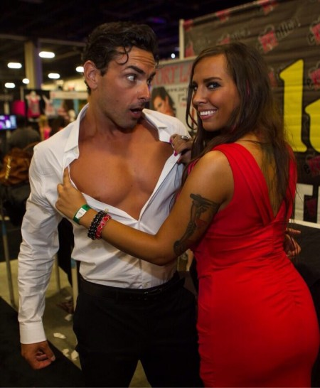 Ryan Driller and Sydney Leathers