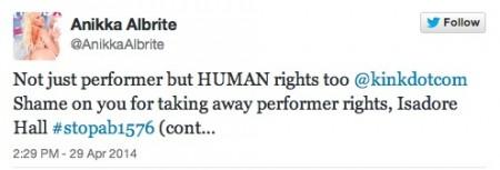 Anikka Albrite says #stopAB1576