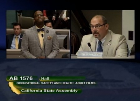 Hall on the hot seat - AB 1576 In The Calif. Assembly Appropriations Committee