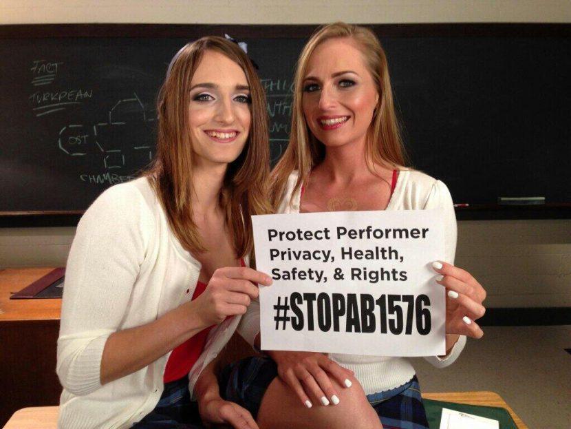 Adult Models, Directors and Crew Do NOT Want AHF's Mandatory Condom Bill - #stopAB1576