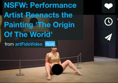 NSFW: Performer Exposes Vagina, Reenacts Famous Painting At A Museum In Paris