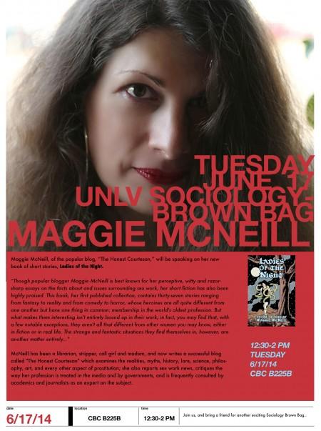 Sex work writer Maggie McNeill to speak at UNLV, Tues. June 17