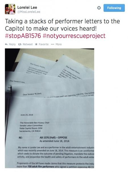 Lorelei Lee Lobbies State Senators To #stopAB1576