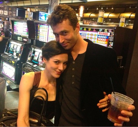 Stoya and James Deen at AEE, January 2014 (Photo by Michael Whiteacre)