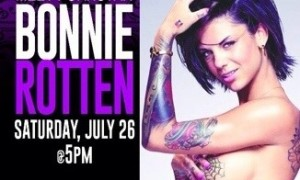 Bonnie Rotten NightMoves Noms Bust-Out; Meet Her Saturday at Hustler Hollywood in Lexington