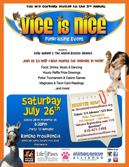 Invitation to the 5th Annual  Vice Is Nice benefit