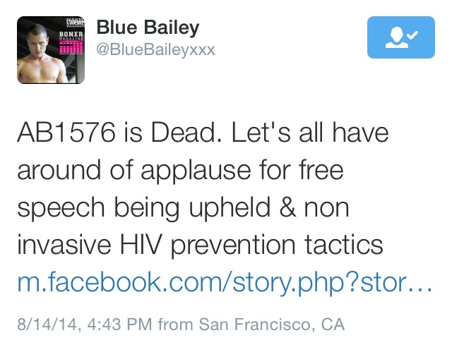 Blue Bailey -- AB 1576 is dead