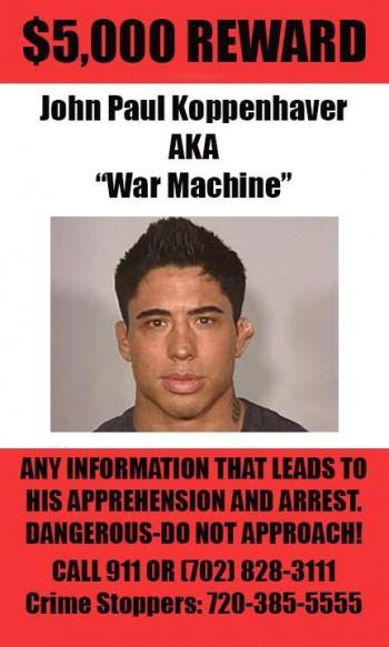 war machine wanted poster