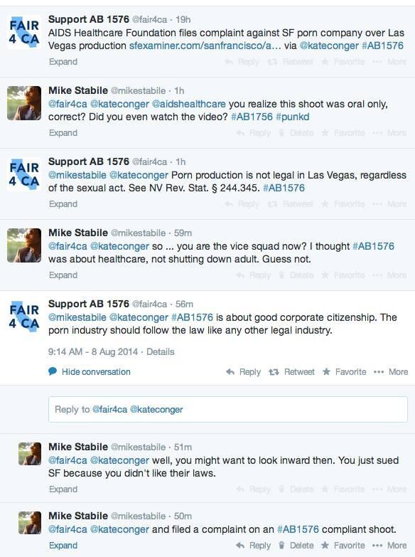 The Las VegasIKink.com spokesman Mike Stabile vs. AHF propaganda -- Kink.com Shoot AHF 'Narced' On Was AB 1576-Compliant -- Oral Sex + Toys Only!