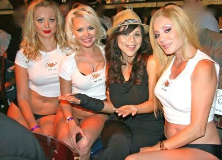 Rick's Cabaret NYC girls with Rosie Perez