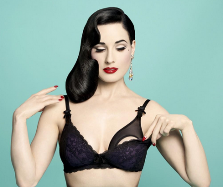 Dita Von Teese's Line Of Nursing Bras Makes It Obvious She's Never Had Milk-Filled Boobs