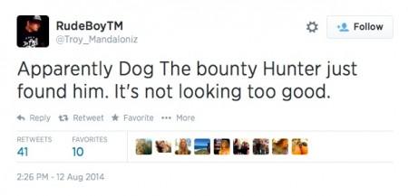 Troy 'Rude Boy' Mandaloniz Reports That War Machine 'Found' By Dog The Bounty Hunter