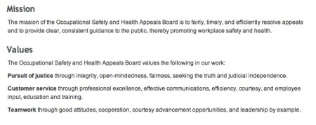 From Cal/OSHA's Occupational Safety and Health Appeals Board website