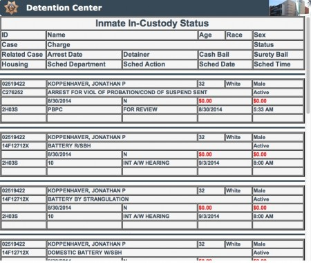 War Machine extradited to Nevada, booked in Clark County Detention Center