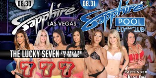 LA Direct Models' 'Lucky Seven' Host Sapphire Club and Pool Labor Day Weekend