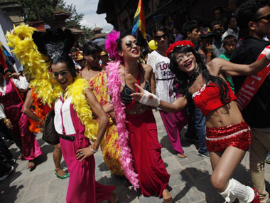 A Gay Pride rally in Nepal. AFP - Nepal government may pass laws recriminalizing gay sex