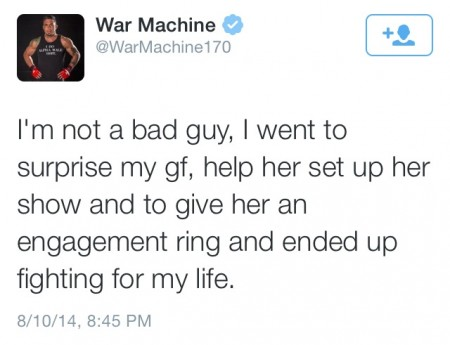 Are War Machine's Tweets About Bringing Christy Mack A Ring Part of A Ruse To Avoid Jail?