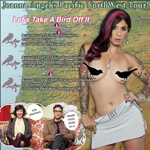Joanna Angel Announces First Pacific Northwest Tour