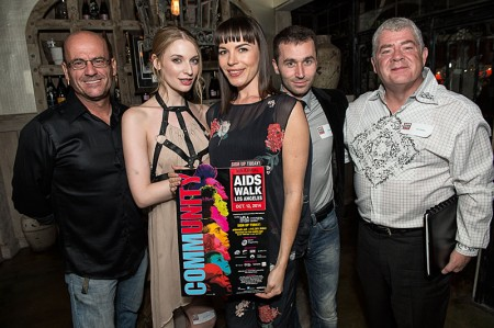 Adult Performer Advocacy Committee (APAC) was honored for its fundraising work with AIDS Walk Los Angeles -- Ela Darling, Dana DeArmond, James Deen
