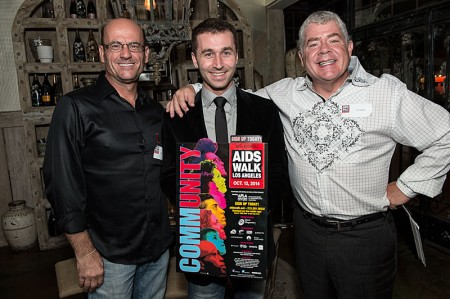 James Deen with AIDS Walk Los Angeles staff