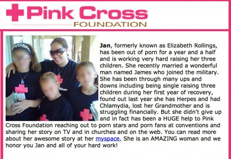 A May 2009 Pink Cross Foundation appeal for donations - Jan Meza