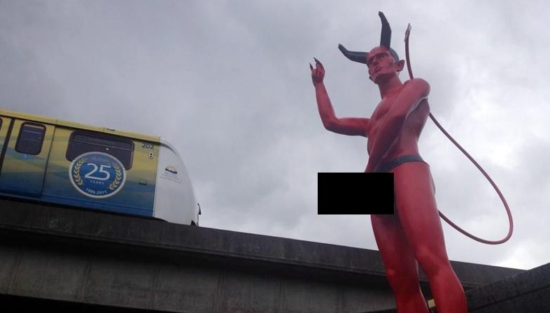 Satan statue with porn star penis taken down by City of Vancouver