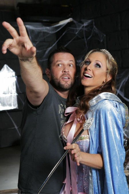 "From the set of ""Cinderella XXX: An Axel Braun Parody"" -- the director with Fairy Godmother Julia Ann (and ThePose)™ #BibbidiBobbidiBoo"