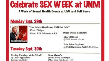 sexweekflier 450x253 Critics concerned about UNMs first Sex Week