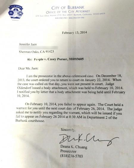 2014-02-13 Burbank letter