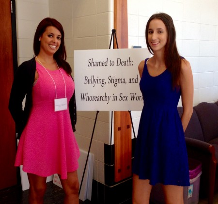 FullSizeRender copy 2 450x421 Belle Knox and Christina Parreira Present at Human Trafficking, Prostitution and Sex Work Conference in Toledo