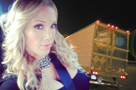 'Sex tour of UK' porn star Rebecca More sparks outrage with bid to bed strangers in back of lorry