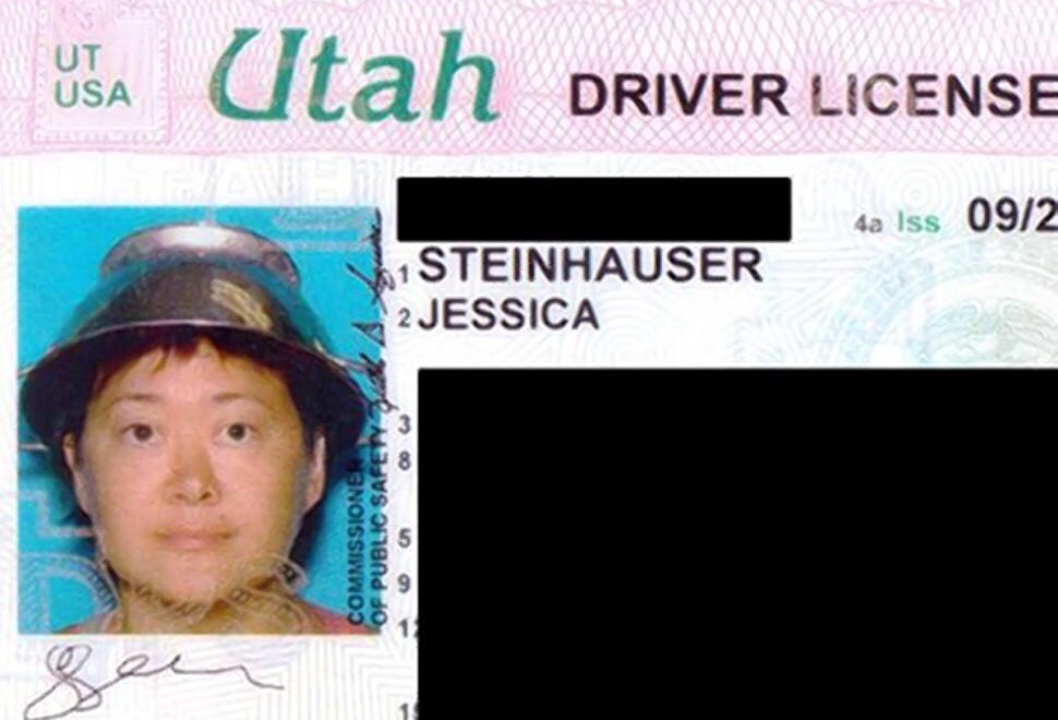 Ex-porn star Asia Carrera wears spaghetti strainer on head for driver's license, calls it a proud moment