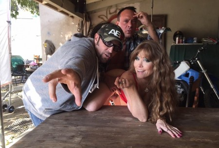 Lockwood on set with Axel Braun (left) and Darla Crane