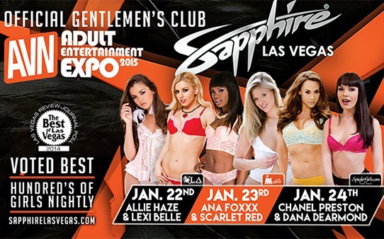 AVN Teams Up with Sapphire Gentlemens Club Las Vegas for Three Nights of AEE Parties