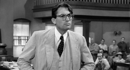 Gregory Peck as Atticus Finch in the film of 'To Kill A Mockingbird'