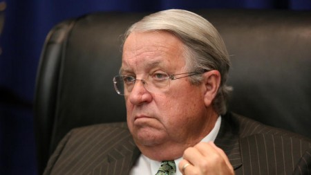 "Fourth district supervisor Don Knabe proposed a plan to publicly shame ""johns"" who solicit or purchase sex. (Irfan Khan/Los Angeles Times)"