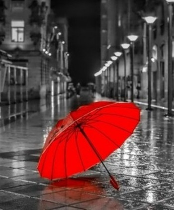 red-umbrella-rainy-street