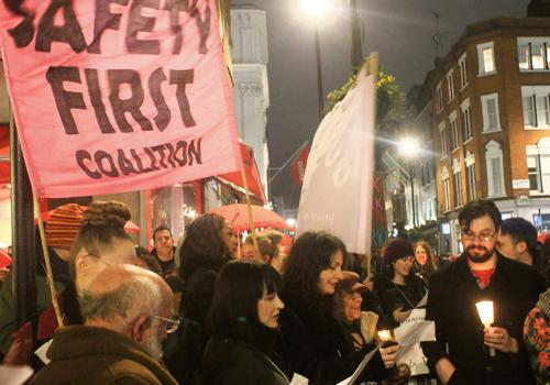 Soho sex workers hold candlelit vigil in protest over 'epidemic of violence'