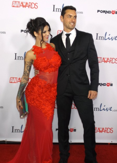 Bonnie Rotten and Ryan Driller. TRPWL.com photo coverage of the 2015 AVN Awards at the Hard Rock Hotel & Casino in Las Vegas, January 24, 2015.  Red carpet photos by Max Murder.