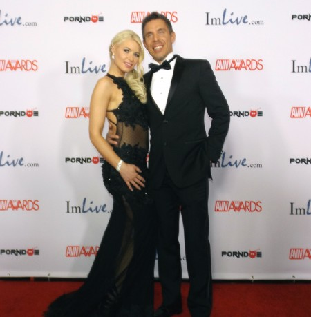 AVN Awards 2015 Red Carpet PHOTOS (Part 4): Anikka Albrite and Mick Blue. Photo by Max Murder for TRPWL.com