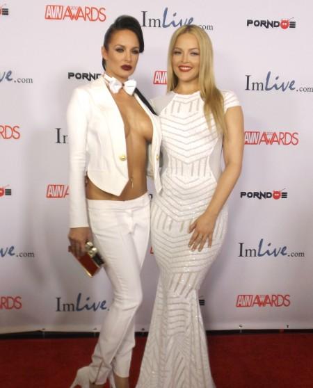 AVN Awards 2015 Red Carpet PHOTOS (Part 5): Alektra Blue and Alexis Texas. Photo by Max Murder for TRPWL.com