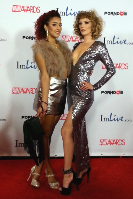 AVN Awards 2015 Red Carpet PHOTOS from TRPWL.com: Daisy Ducati and Mona Wales