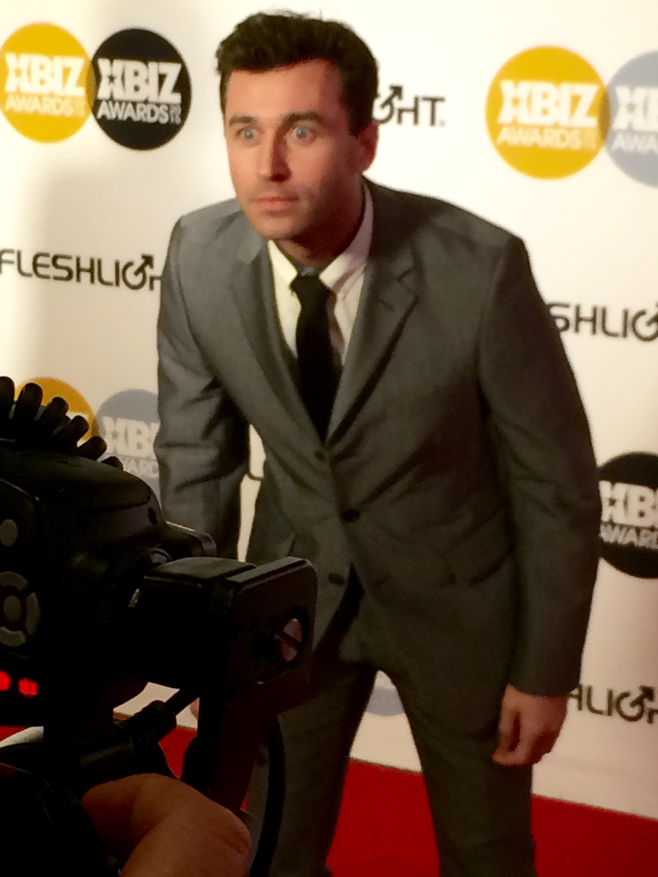 James Deen at the 2015 XBIZ Awards in Los Angeles