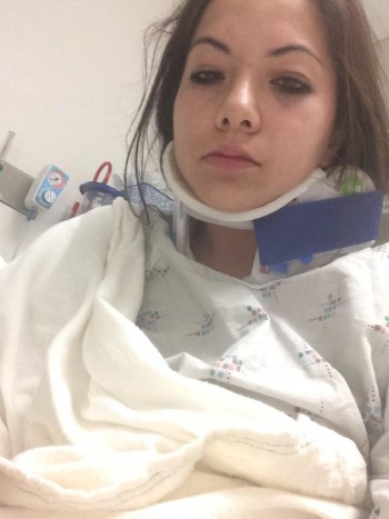 Morgan Lee in the hospital, October 19, 2014