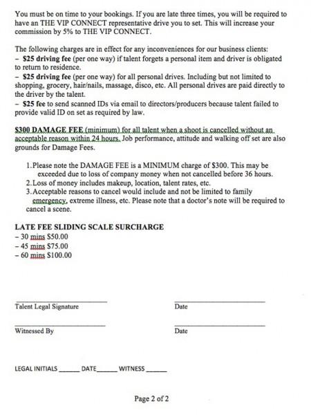 VIP Talent Agreement 2