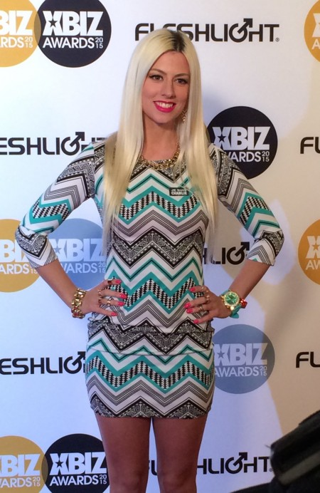 Jessie Volt at the 2015 XBiz Awards