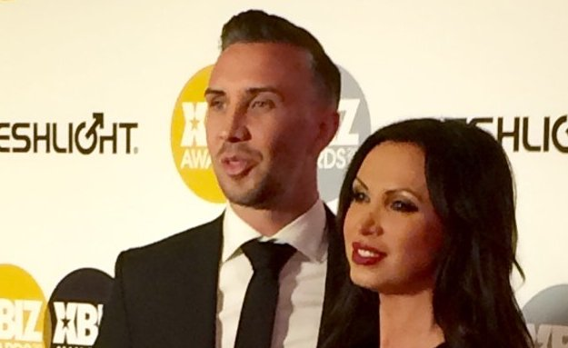 Keiran Lee and Nikki Benz at the 2015 XBiz Awards in Los Angeles