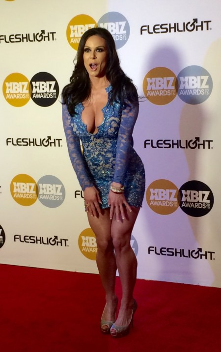 Kendra Lust on the red carpet of the 2015 XBiz Awards in Los Angeles