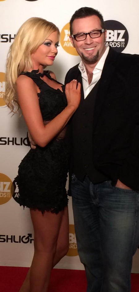 Riley Steele and Axel Braun at the 2015 XBiz Awards in Los Angeles