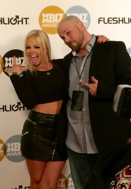 Jesse Jane and Mike Moz at the 2015 XBiz Awards in Los Angeles